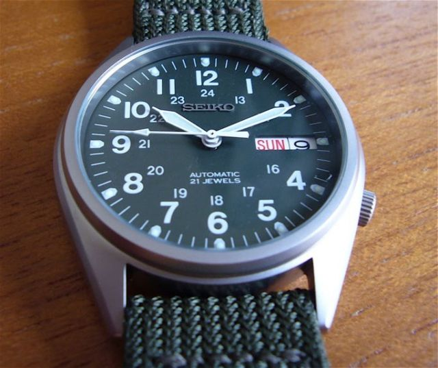 seiko snx425k military watch review watchshock com link
